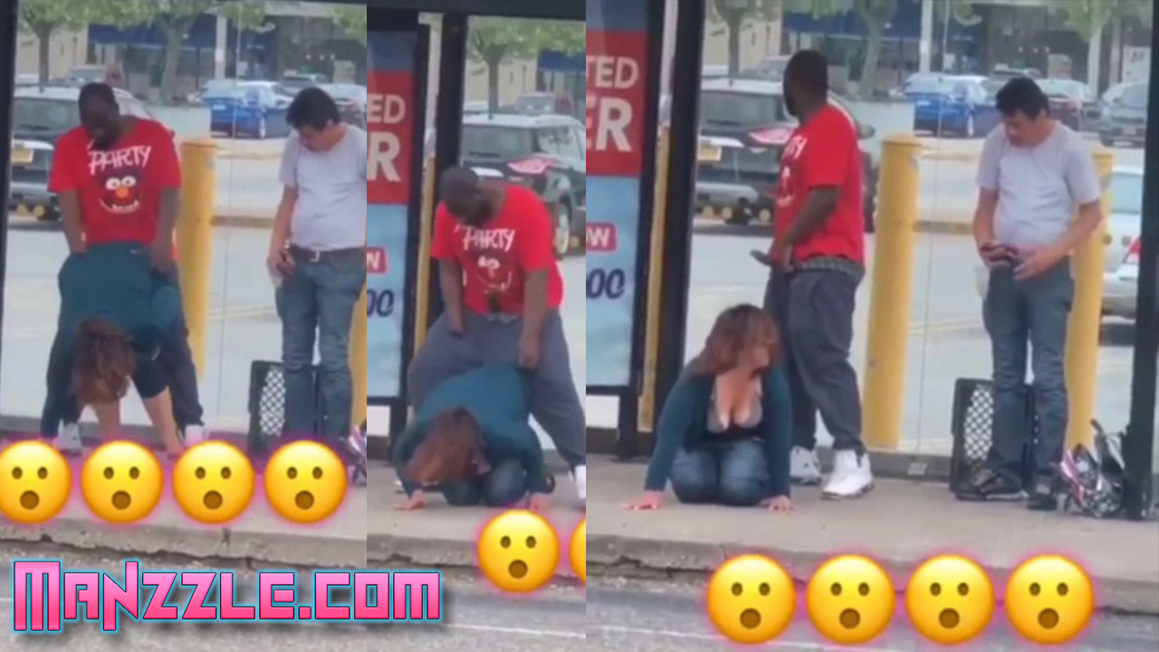 BBC Fucking at the bus stop and nutting in public!